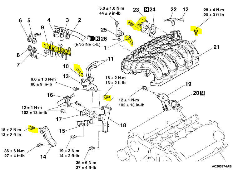 [DIAGRAM_38IS]  How do I change the rear plugs in my 2007 endeavor   Mitsubishi Endeavor Engine Diagram      JustAnswer