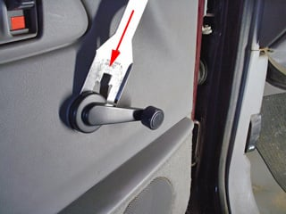 How Do You Remove The Window Crank On A 2000 Gmc 3500