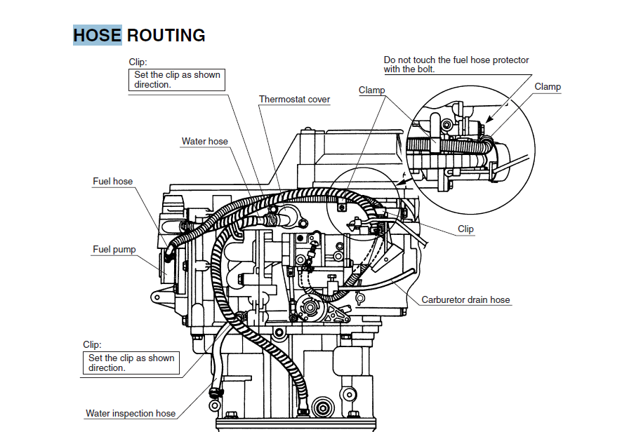 yamaha 4 stroke outboard motor water flow diagram
