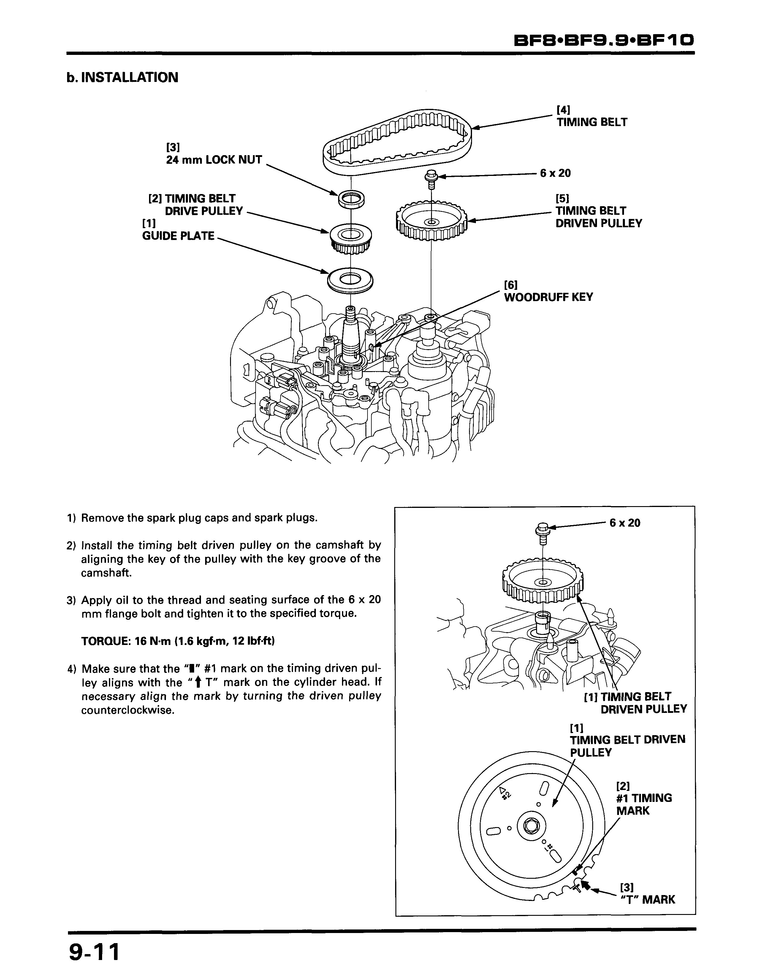Honda bf8a 8hp 4 stroke set timing bzbc1800392