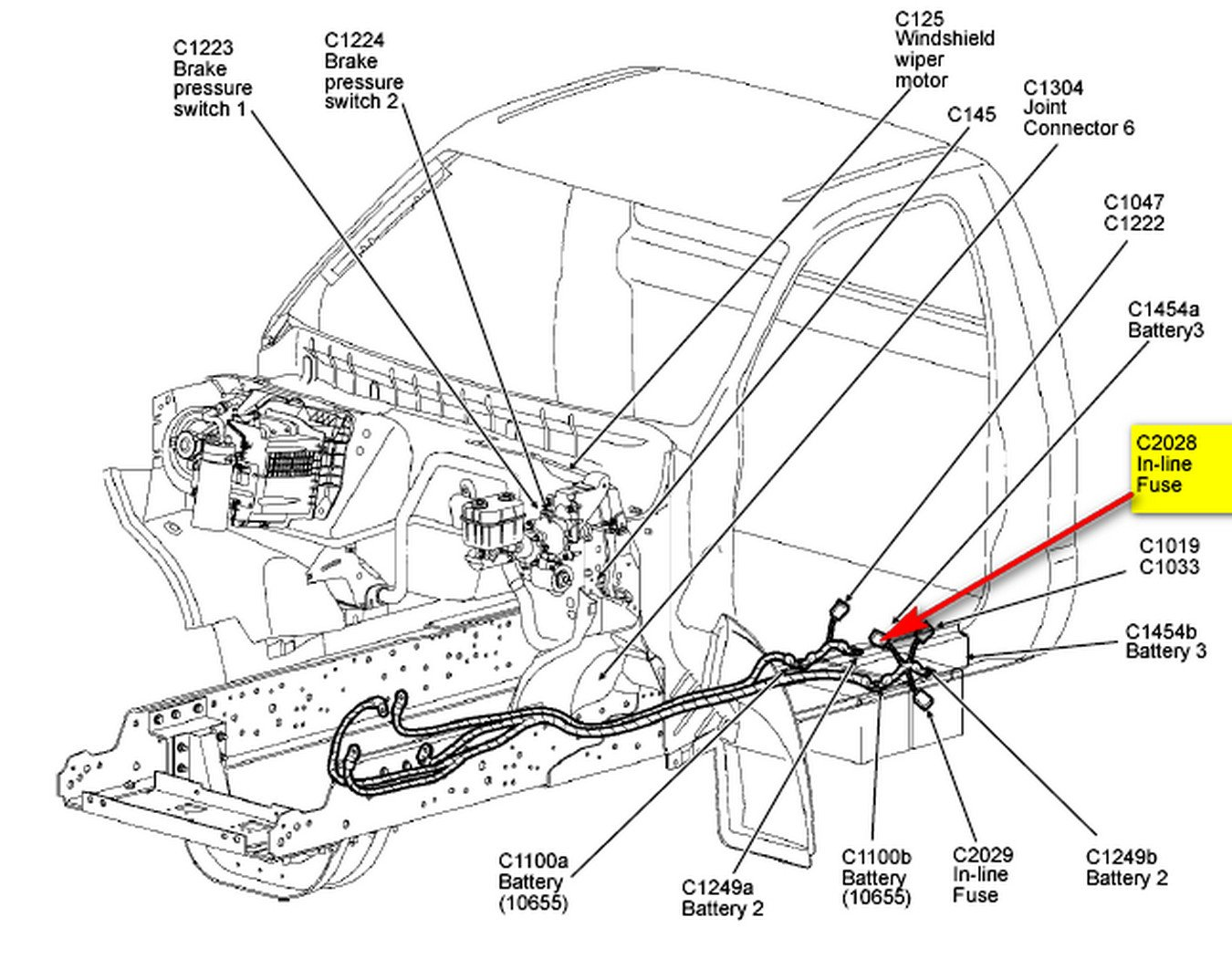 We Have A Ford F650 2008 Model With Cat Engine C7 No Windshield Wiper Diagram Graphic