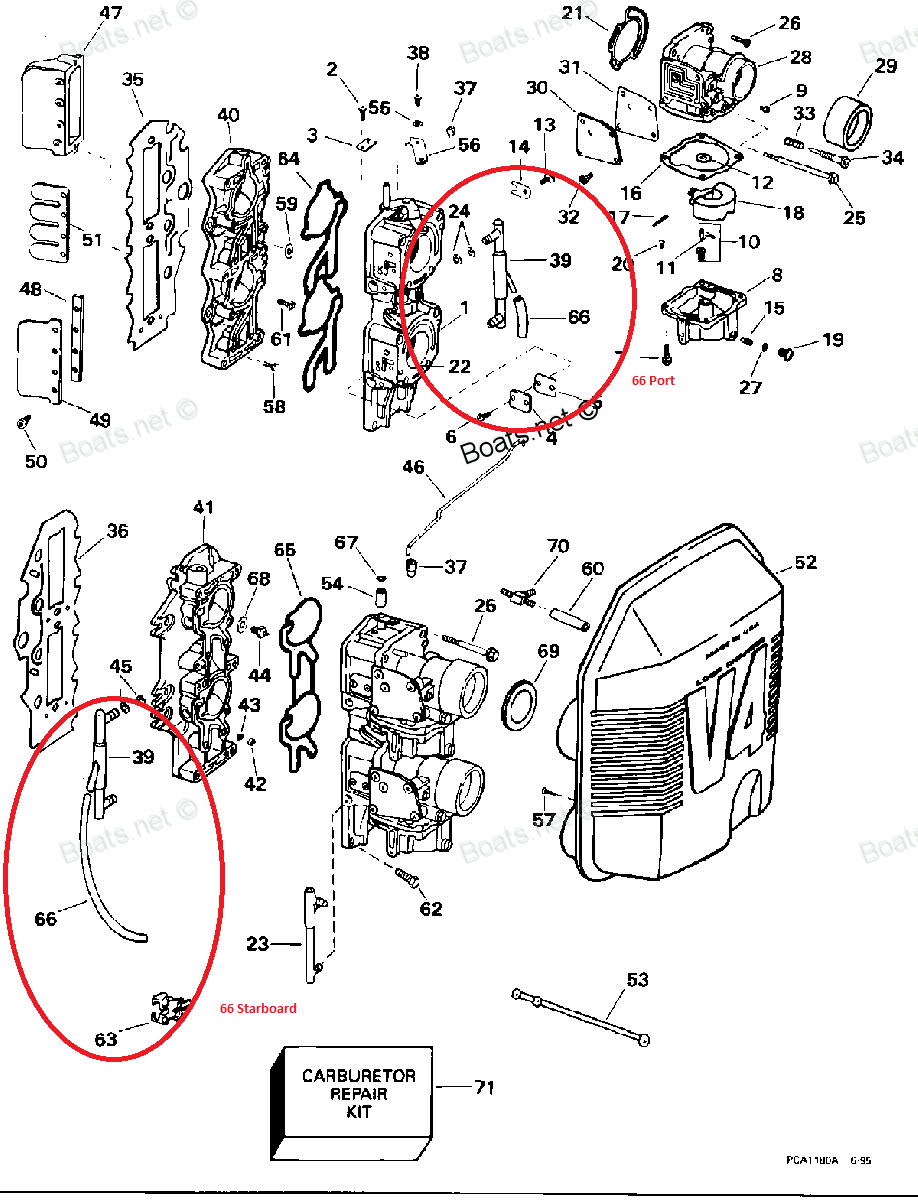 Where Does Hose 66 On The Carb Manifold Exploded Drawing Port 74fjpbyc Omc Cobra Sterndrive Power Steering Pump Diagram And Parts View Full Image