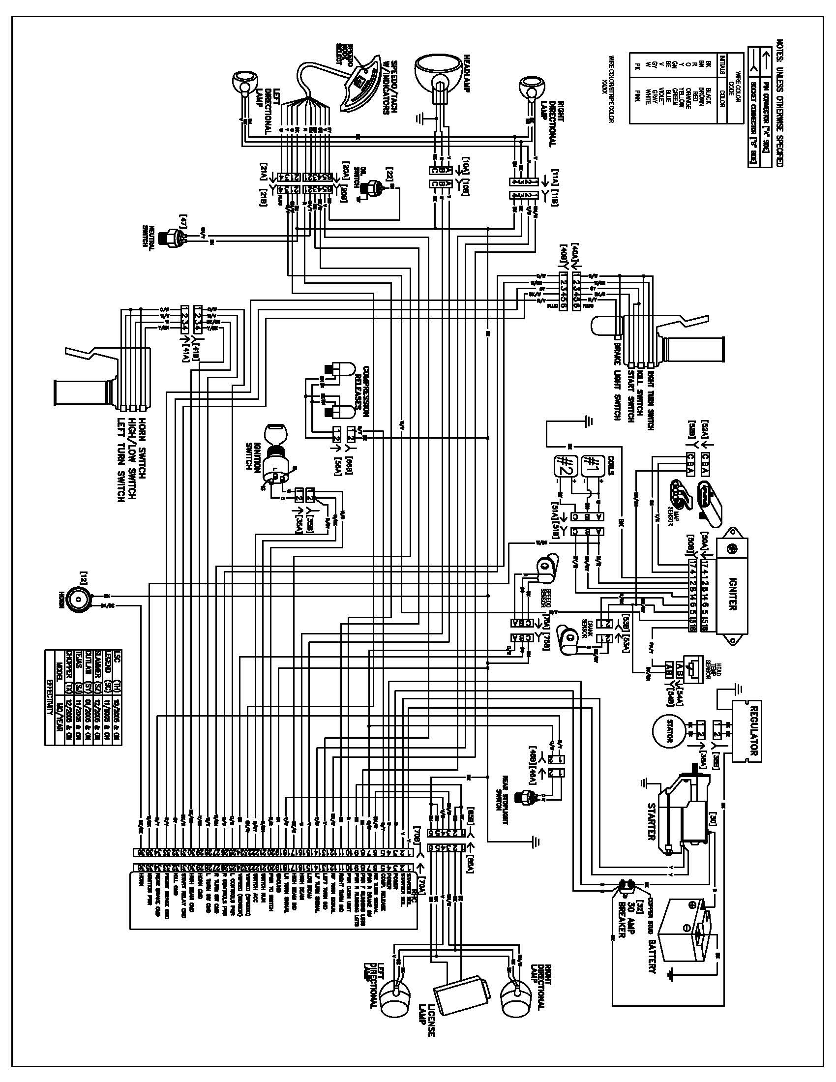 WRG-4272] American Ironhorse Chopper Wiring Diagram