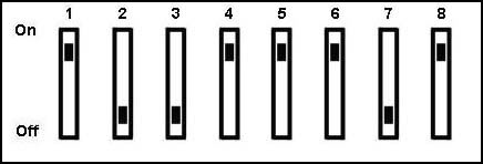 CNT03600 dip switch settings explain the 8 positions and what each