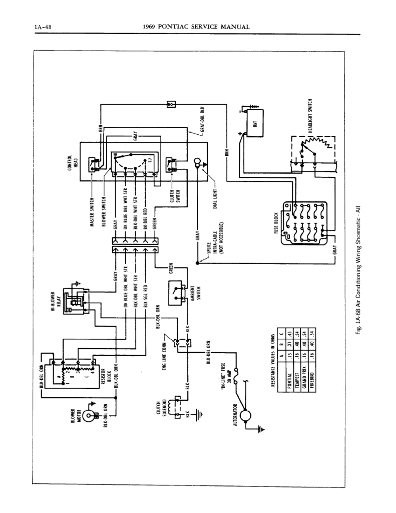1964 Pontiac Lemans Wiring Diagram 1967 Tempest I Need A Or Help With The C Clutch Not Engaging Rh Justanswer Com 1963