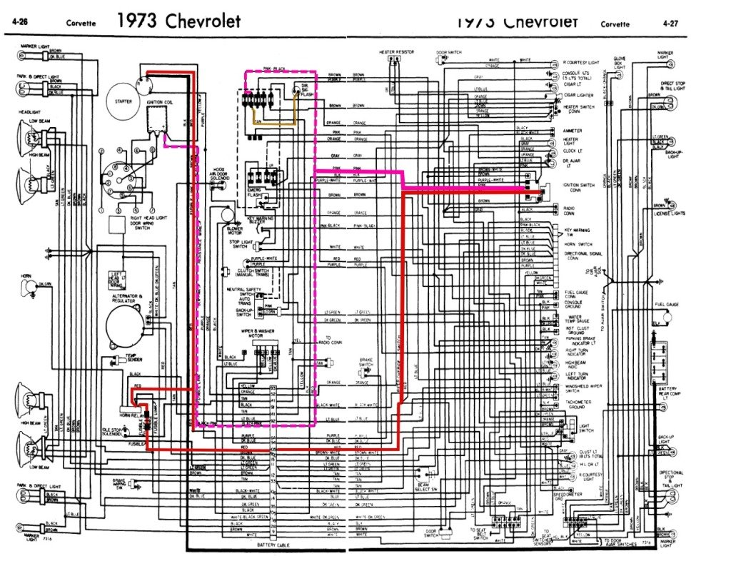 73 Corvette Wiring Diagram Not Lossing 1973 Third Level Rh 18 16 14 Jacobwinterstein Com Alterantor