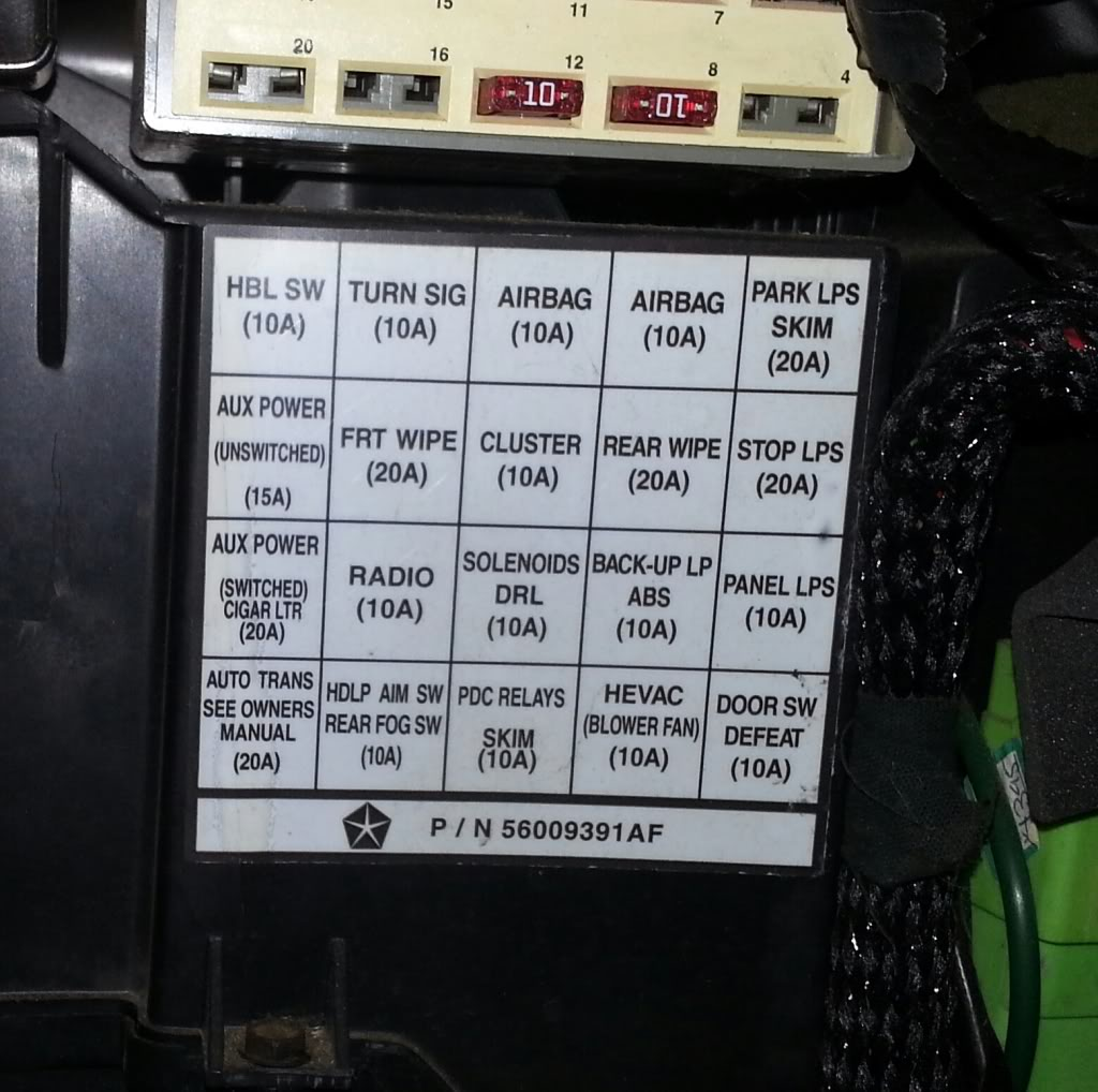 2004 Jeep Wrangler Fuse Box Diagram
