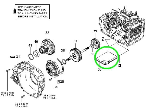 Where Is The Transmission Filter Located On A 2003