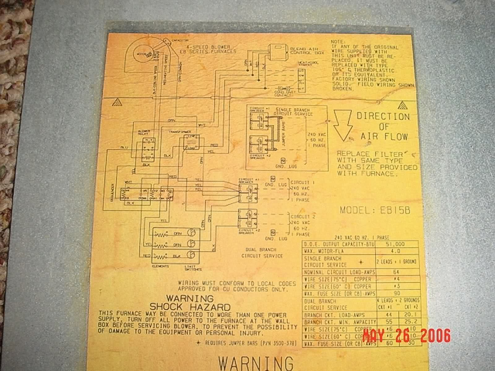 Wiring Schematic For Coleman Furnace Diagram Name Basic Eb15b Simple Gas Electric