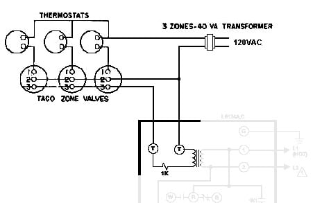 im wiring my new burnham boiler and have two taco zone valves
