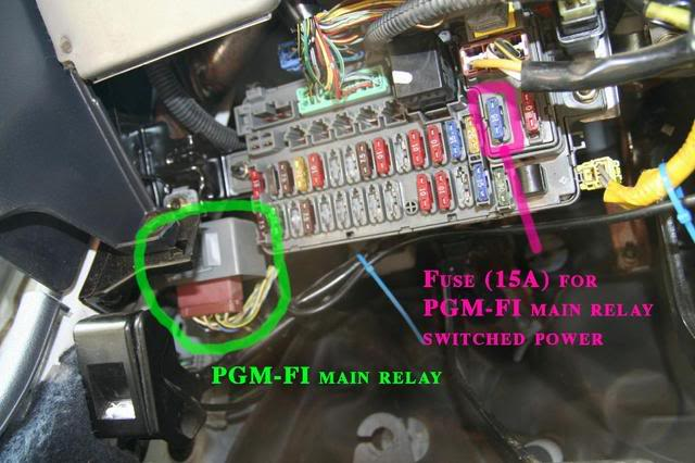 1t7ln 1993 Honda Civic Interstate Smelled The Timing Belt on pgm fi main relay location