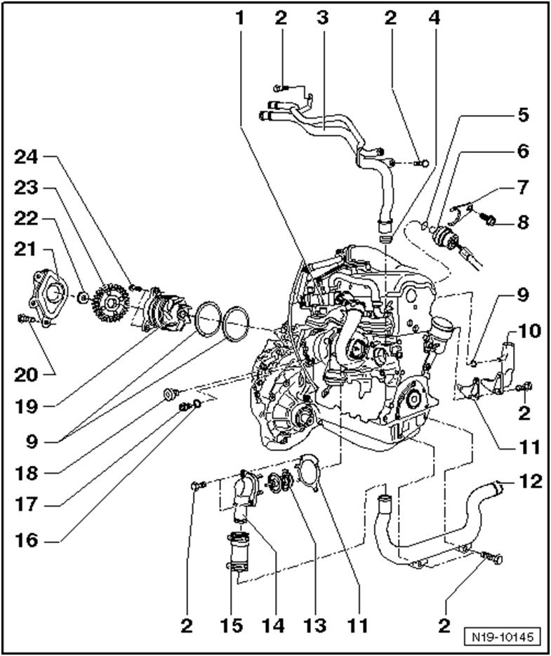 how do you go about changing a water pump in vw 4motion