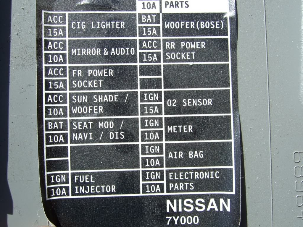 Altima Fuse Box Location Wiring Library 03 Buick Century 2004 Nissan Power Window Diagram Headlight