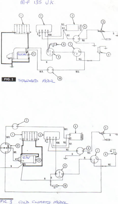 massey ferguson 135 tractor MF 135 Gas Wiring Diagram 235 Massey Ferguson Wiring -Diagram