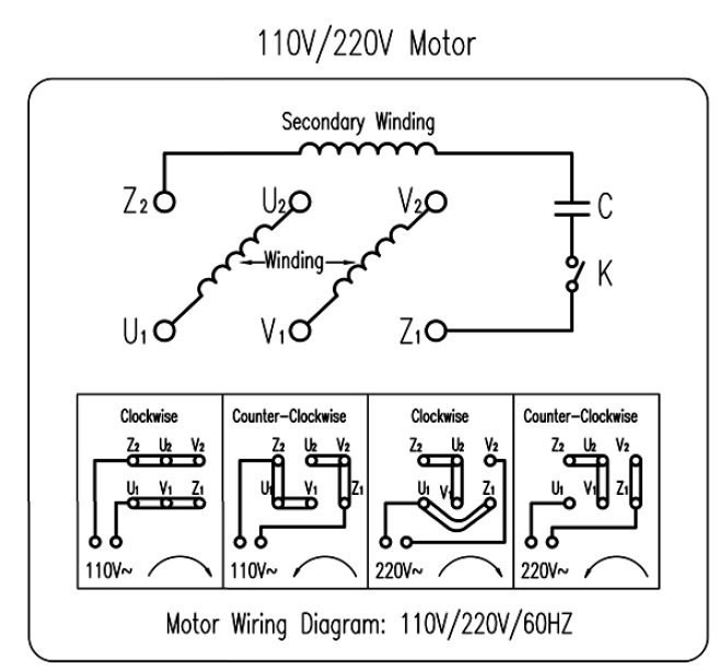Wiring Motor For 110v Please Help Manual Guide