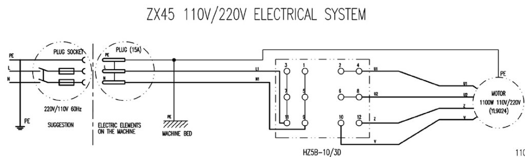I Am Trying To Wire A 110 Volt Ac Motor To A Forward  Reverse Switch  Can You Help  The Model