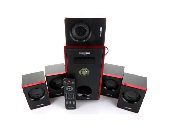 Acoustic Audio AA5103 800W 5.1 Channel Home Theater Surround Sound Speaker System