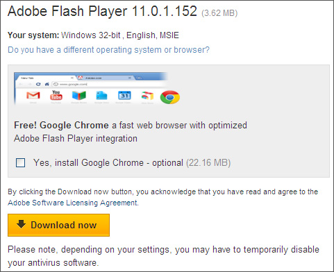 how to know if flash is installed