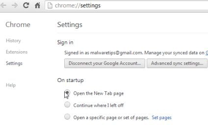 how to change homepage in google chrome windows 8