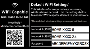 I have xfinity wifi available in my home  When first setting