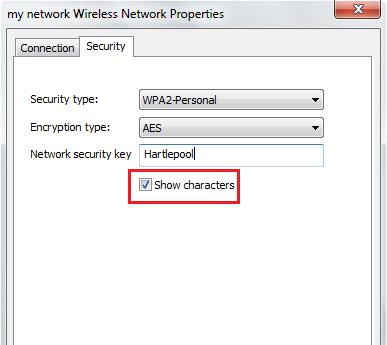find network password windows 7