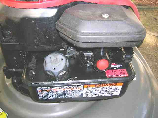 My Briggs Stratton 500 series 158cc push mower started once, died ...