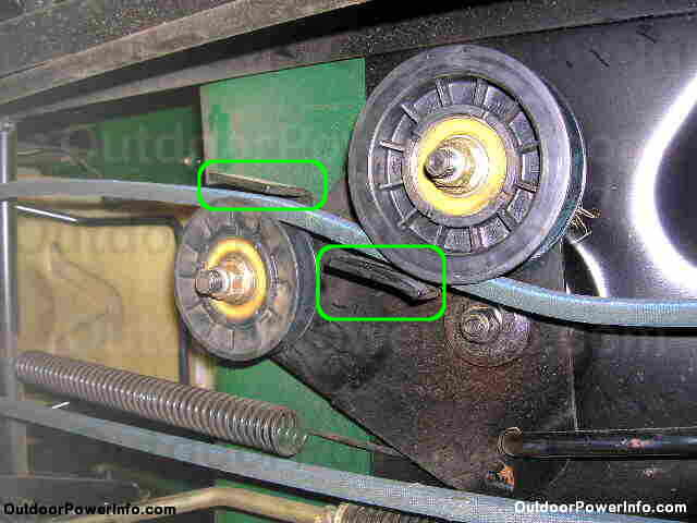 Schematics On An L120 Idler  Tension Pulley Spring  Bought In 2004 For Mower Deck