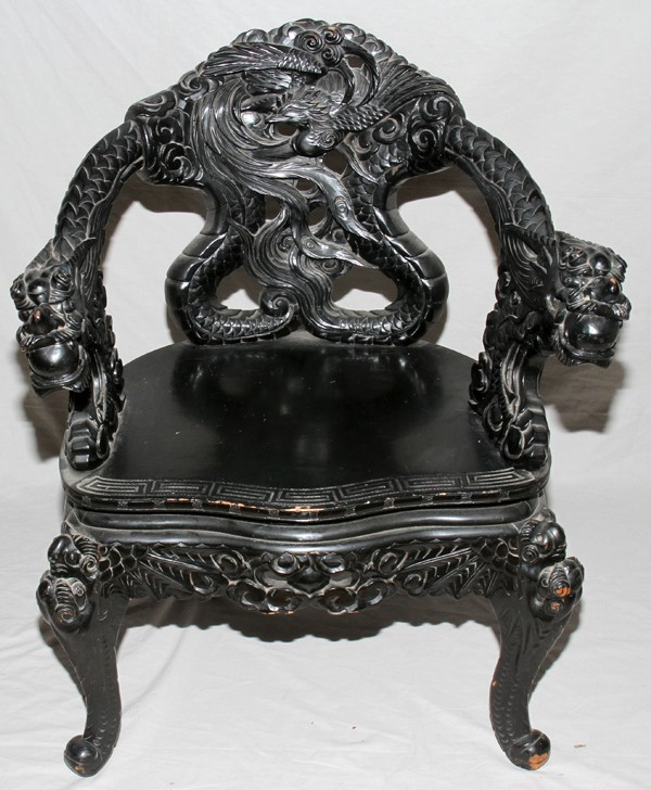 I have a dragon chair that looks to be a chippendale design. I've been told  that it is over one hundred years old and - I Have A Dragon Chair That Looks To Be A Chippendale Design. I've