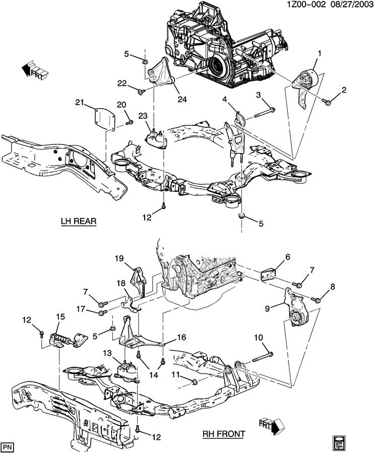 what is the procedure to remove and replace a 3.5 l engine ... chevy engine mount diagram #4