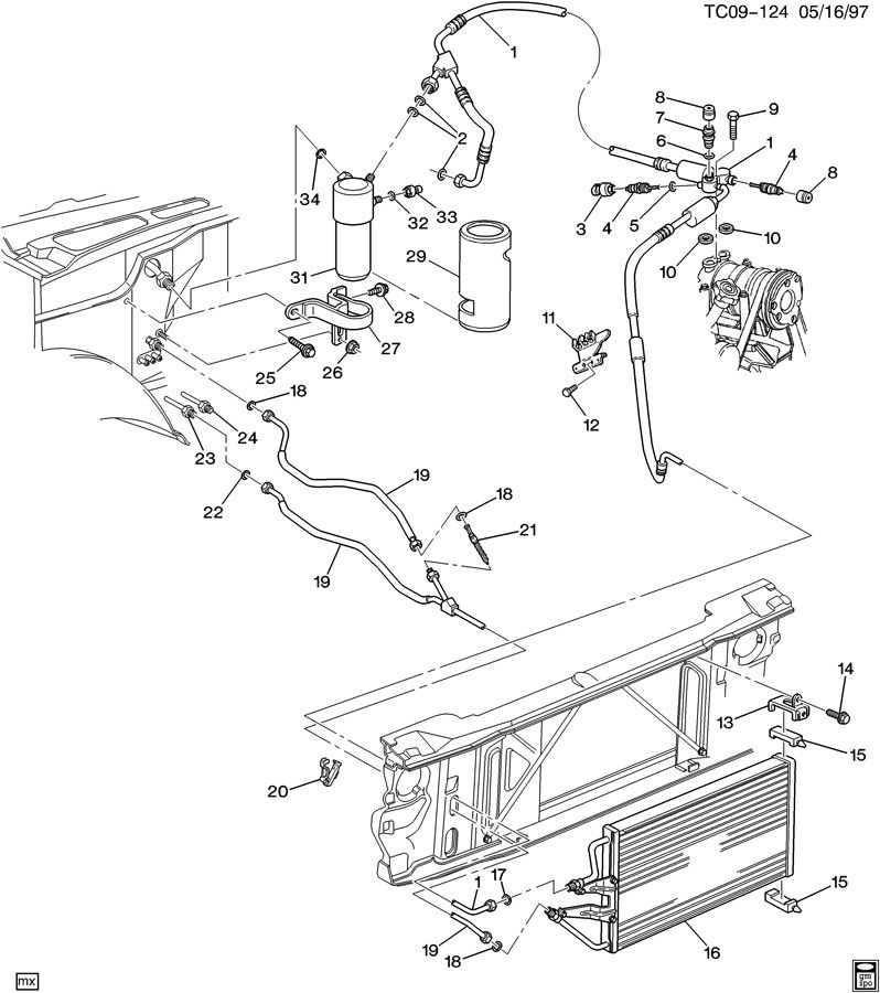 1998 gmc sierra parts diagram