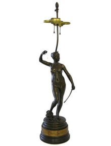 Diana by FALGUIERE Bronze Table Lamp