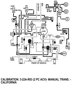 what is the vacuum schematic for 1977 ford pick up 302 engine 2wd  click image to see an enlarged view