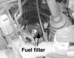 How do i change a 1998 mercury tracer fuel filter?