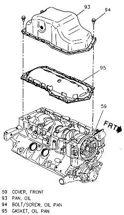 95 camaro 3.4 oil pan removal
