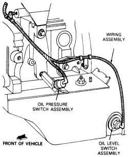 Where do I find the oil pressure sensor switch on my 1997 ... on