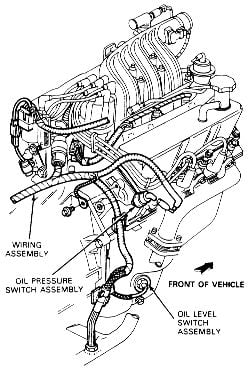 Where do i find the oil pressure sensor switch on my 1997 mercury click image to see an enlarged view sciox Gallery