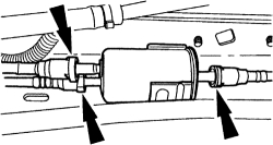 Replacing fuel filter on a 2004 mercury mountaineer. What are the methods  of removing the two fittings attached to the