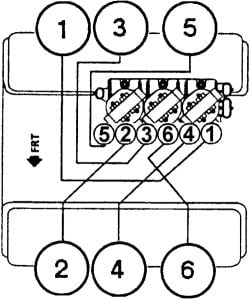 on a 2002 buick century 3 1l sfi i need the firing order for the Chevrolet V6 Engine Diagram click image to see an enlarged view