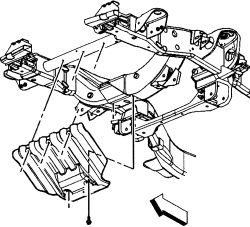 can i remove cross member under oil pan to change pan gasket without Silverado 5 7 Drop click image to see an enlarged view
