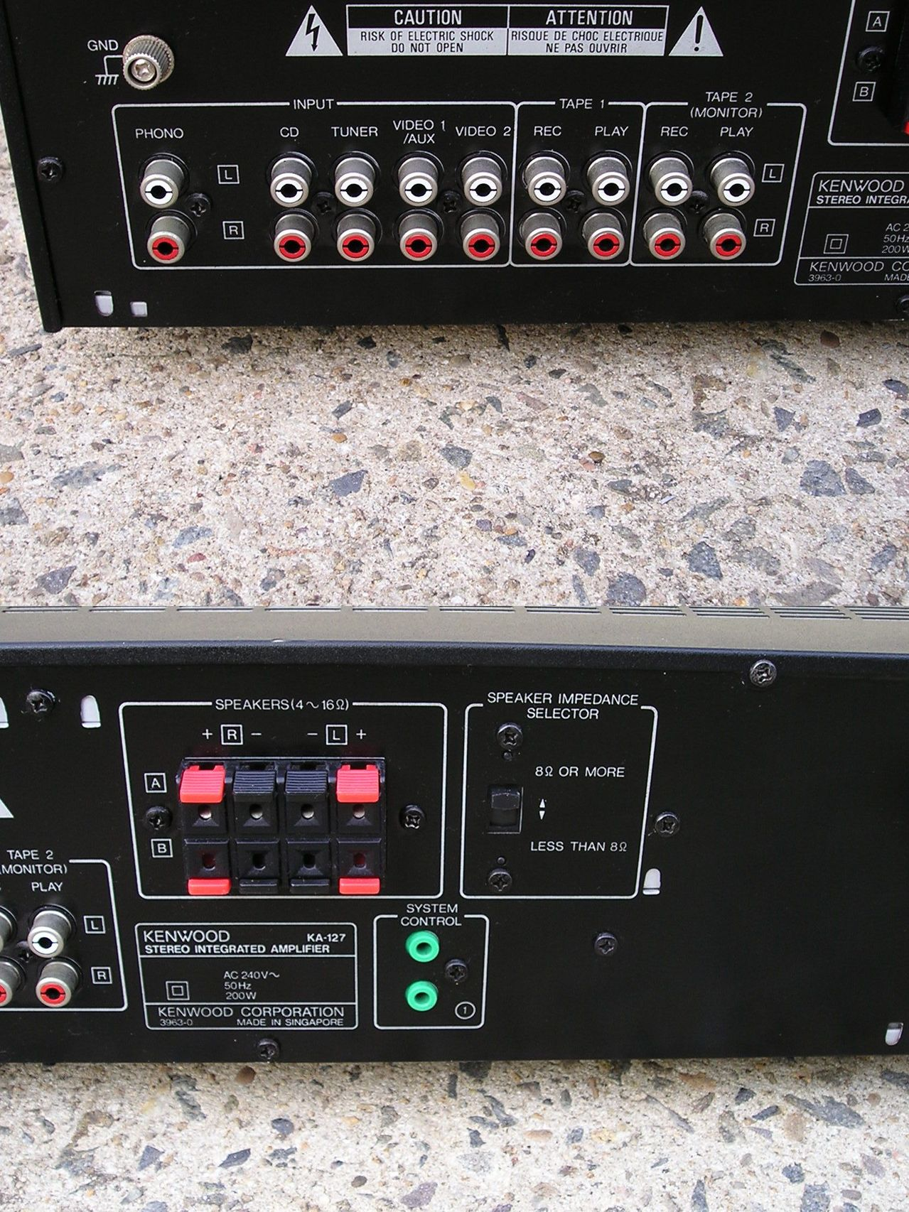 how do i hookup this kenwood kt 57 ka 127 and a kx 57w and cd 204 rh justanswer com Kenwood Integrated Amplifier Kenwood KA 3500 Specs
