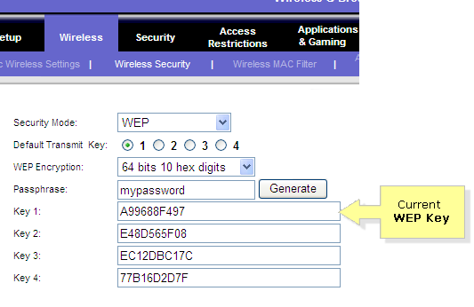 What is the guest password for Linksys E1000? Trying to
