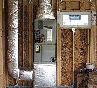 I have a Trane air handler that appears to be leaking. There's