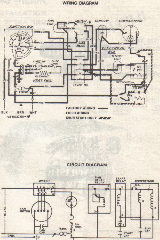 rooftop air conditioner wiring diagram i need the connection schematic or wiring schematic for a ... goldstar air conditioner wiring diagram
