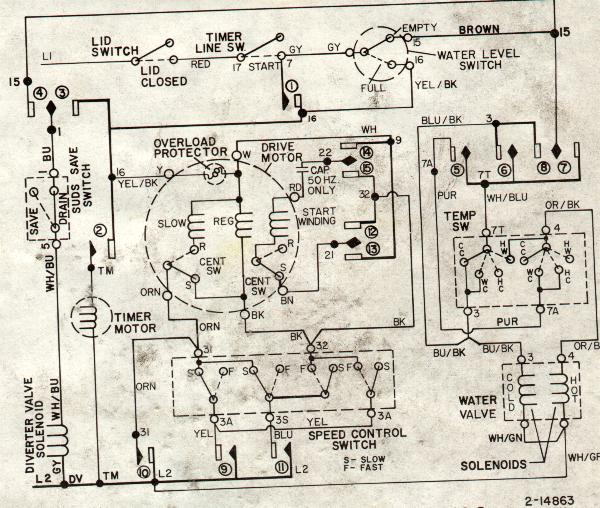 maytag washer lat9804aae-08 drive motor has 6 wires coming ... general electric washing machine motor wiring diagram bosch washing machine motor wiring diagram #5