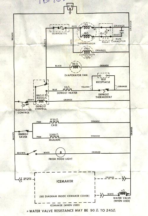 Model Csf22ebd Defrost Timer Part  Wr9x330ds Timer Shorted And Off Wires The Wiring Schematic Is