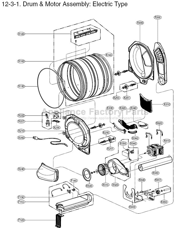 lg tromm washer parts manual