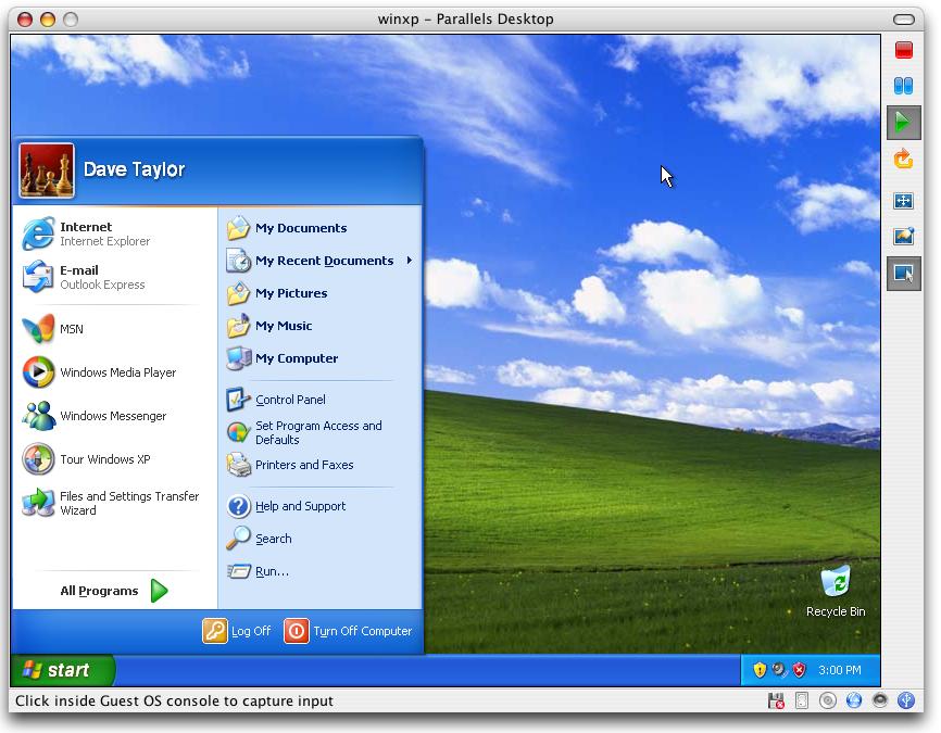 running windows xp on mac
