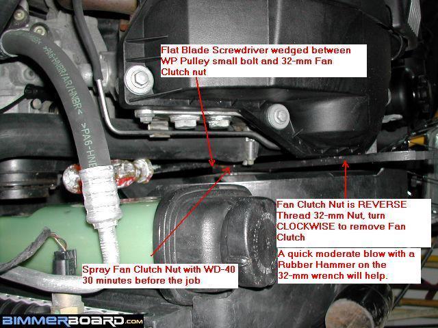 2001 525i Bmw Water Pump Installation