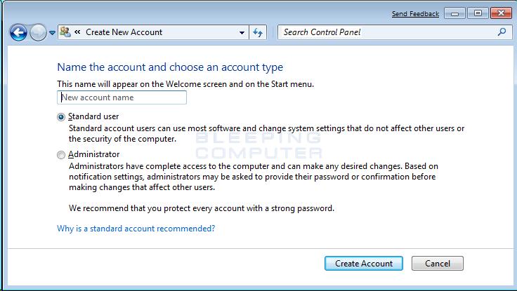 Windows  Home Premium Administrator Account