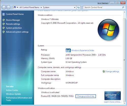 How can i know the product key of my original windows 7 (hp dv6.